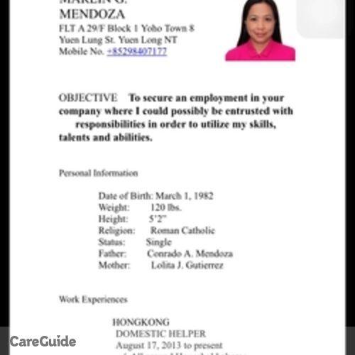 Canadian Nanny Provider Maribel Mendoza's Profile Picture