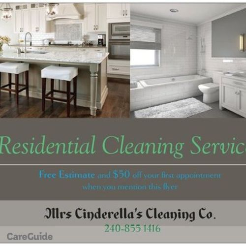 Housekeeper Provider Cinderella's Cleaning Co.'s Profile Picture
