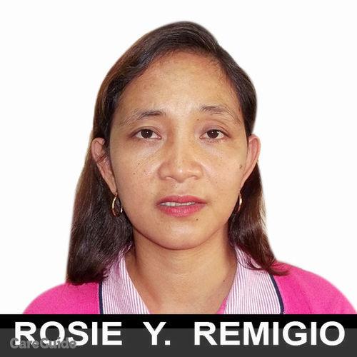 Canadian Nanny Provider Rosie Remigio's Profile Picture