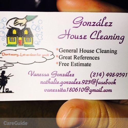 Housekeeper Provider Vanessa González's Profile Picture