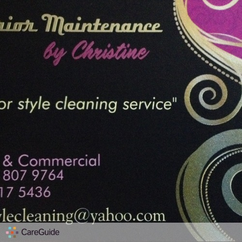 Housekeeper Provider Interior Maintenance by C's Profile Picture