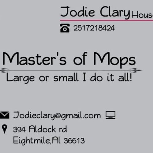 Housekeeper Provider Jodie Clary's Profile Picture