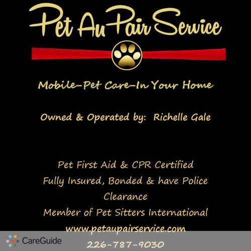 Pet Care Provider Richelle Gale's Profile Picture