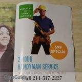 99 For 2 Hours Handyman Service