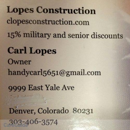 Handyman Provider Carl Lopes's Profile Picture