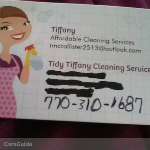 Housekeeper Provider Tiffany Mccallister's Profile Picture