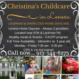 Christina's Childcare - FULL Time Opening available!