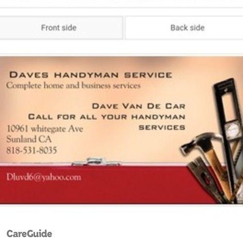 Handyman Provider David Van De Car's Profile Picture