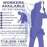 Professional, honest and reliable workers are available daily for jobs at the NICE Community Jobs Center.