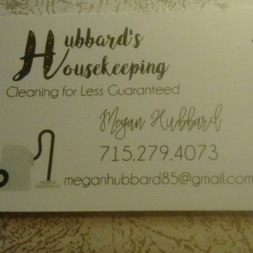 Housekeeper Provider Megan Hubbard's Profile Picture