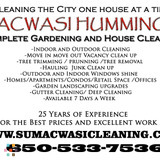 INDOOR/OUTDOOR CLEANING available 7 days a week