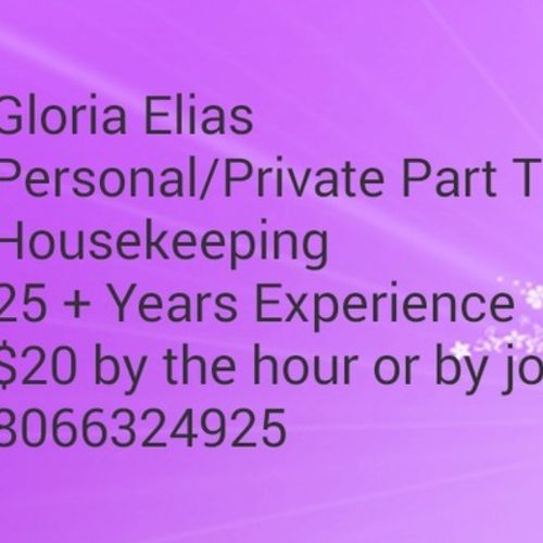 Housekeeper Provider Gloria Elias's Profile Picture