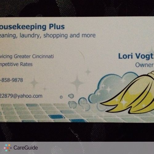 Housekeeper Provider Lori Vogt's Profile Picture