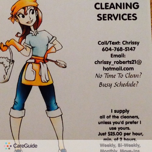 Housekeeper Provider Chrissy R's Profile Picture