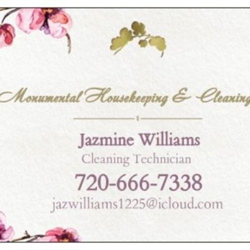 Housekeeper Provider Jazmine Williams's Profile Picture