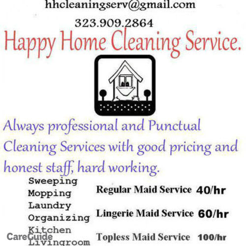 Housekeeper Provider Happy Home Cleaning Services's Profile Picture