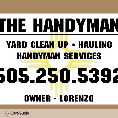 Handyman Provider Lorenzo Tafoya's Profile Picture