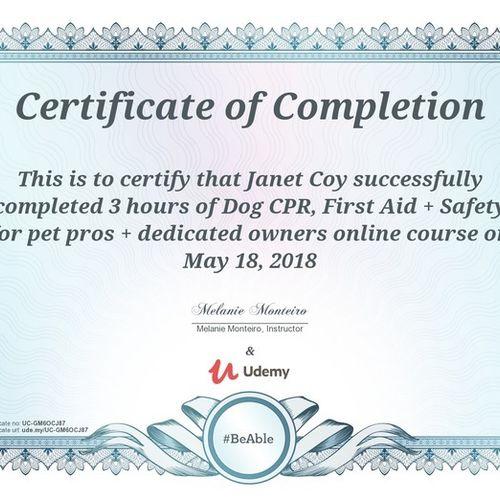 Pet Care Provider Janet C's Profile Picture