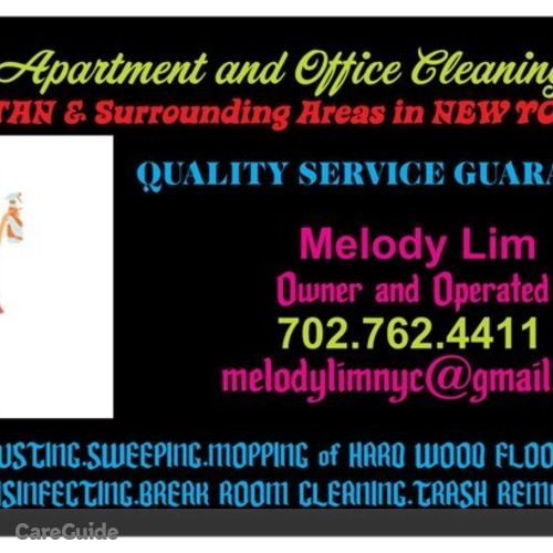 Housekeeper Provider Melody Lim's Profile Picture