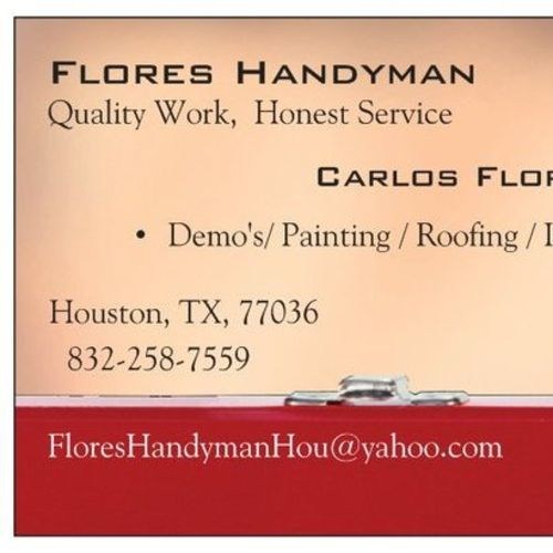 Handyman Provider Carlos Flores's Profile Picture