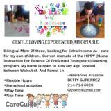 Babysitter Job, Daycare Wanted in Richardson