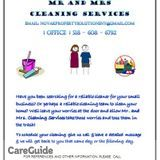 Mr and Mrs Cleaning Services - No one can compete with us!