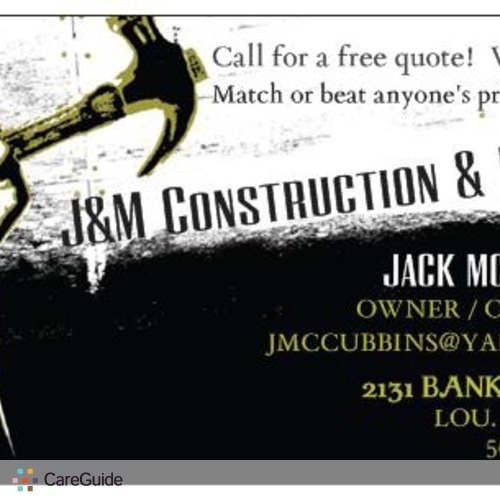 Handyman Provider J&M Construction & Demo 's Profile Picture