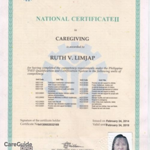 Canadian Nanny Provider Ruth Limjap's Profile Picture