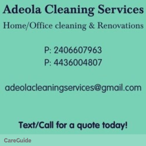 Housekeeper Provider Adeola A's Profile Picture