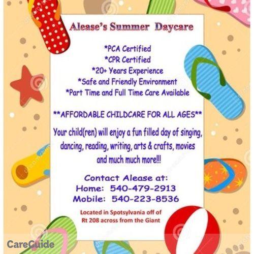 Child Care Provider Alease B's Profile Picture