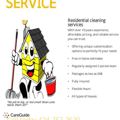 Housekeeper Provider Blue Lane Cleaning's Profile Picture