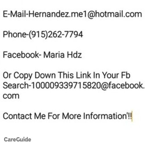Housekeeper Provider Maria H's Profile Picture