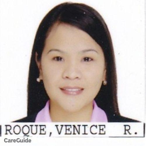 Canadian Nanny Provider Venice Roque's Profile Picture