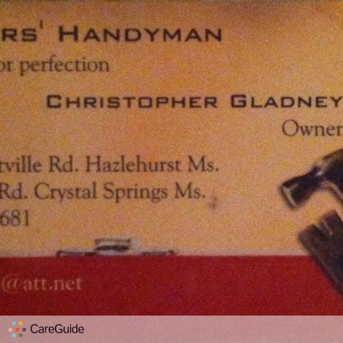 Handyman Provider Christopher Gladney's Profile Picture