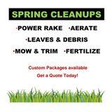 Spring Yard Cleanups, Power Rake, Aerate