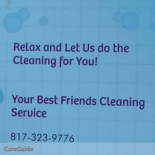 Housekeeper Provider Your Best Friends Cleaning Service's Profile Picture